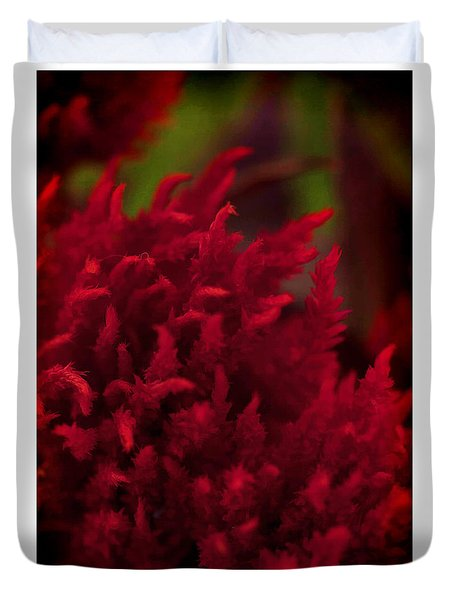 Red Beauty Duvet Cover by Cherie Duran