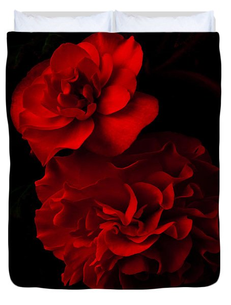 Red Begonia Duvet Cover