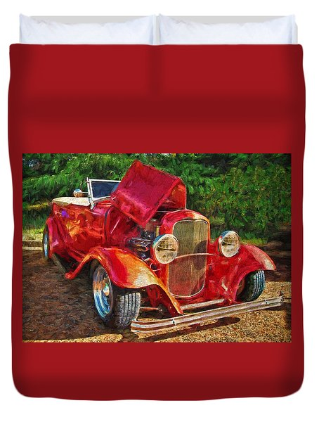 The Red Bell Roadster Duvet Cover
