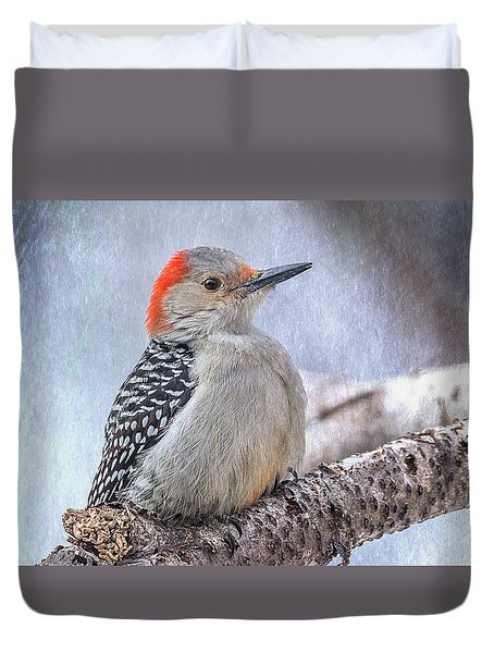 Red-bellied Woodpecker Duvet Cover by Patti Deters