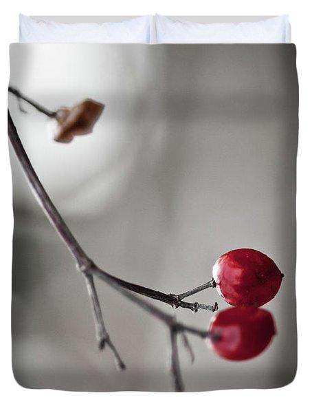 Red Berries Duvet Cover by Mandy Tabatt