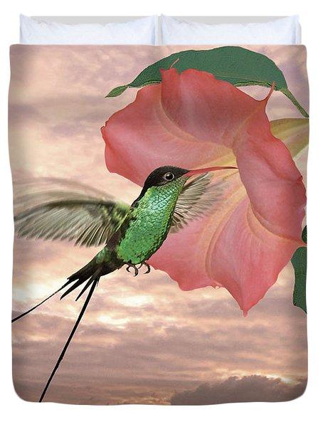 Red-billed Streamertail Hummingbird Duvet Cover