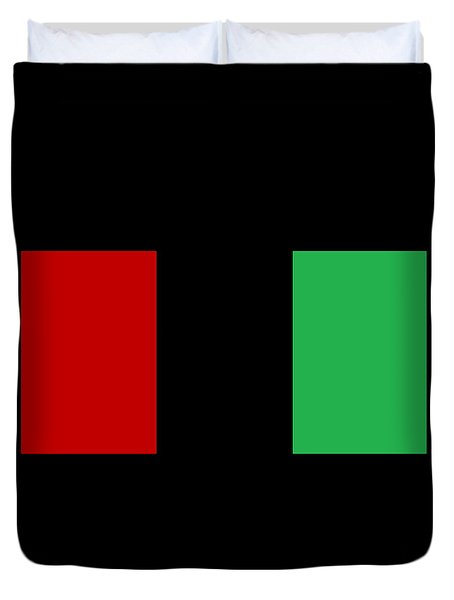 Red Black And Green Duvet Cover
