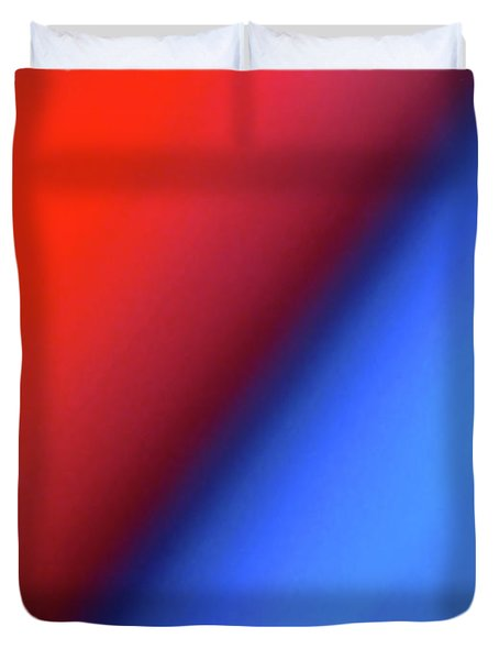 Duvet Cover featuring the photograph Red Blue by CML Brown