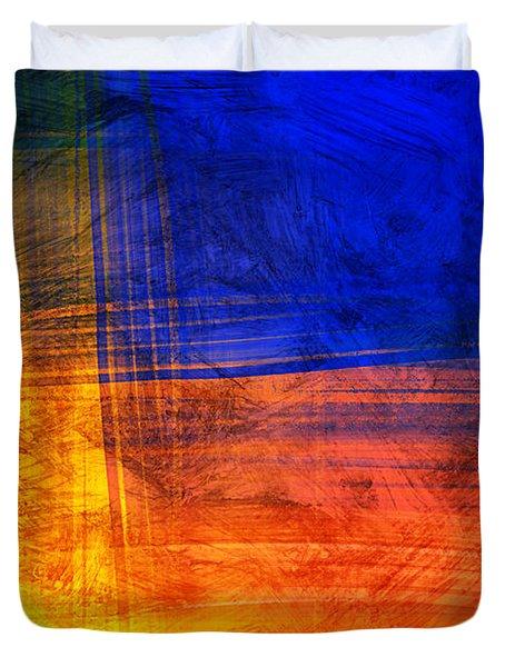Red Blue Scratch  Duvet Cover