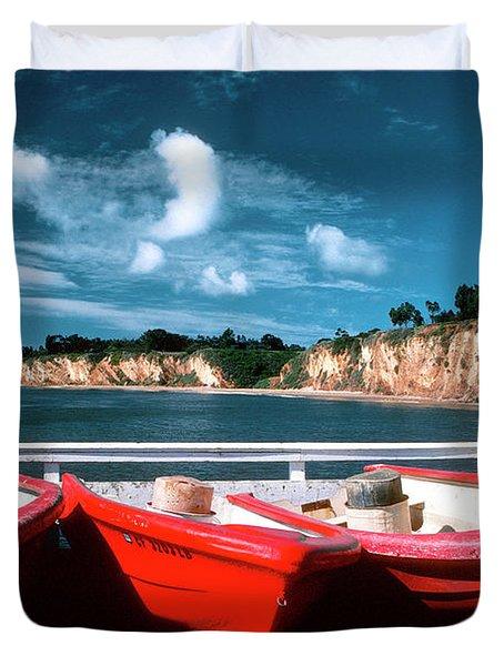 Red Boat Diaries Duvet Cover