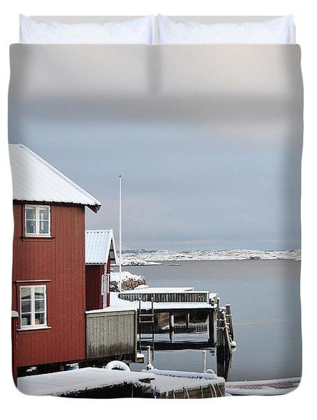 Boathouses Duvet Cover