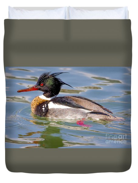 Red-breasted Merganser Duvet Cover