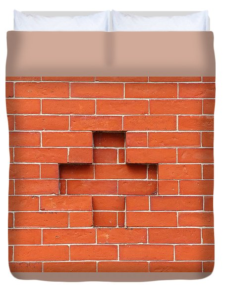 Red Brick Cross Duvet Cover