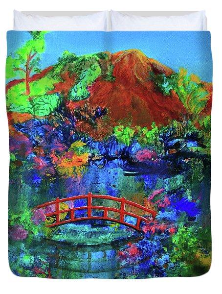 Red Bridge Dreamscape Duvet Cover