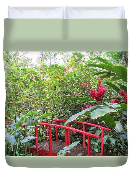Red Bridge Duvet Cover