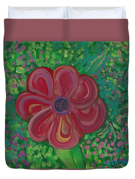 Red Brilliance Duvet Cover by John Keaton