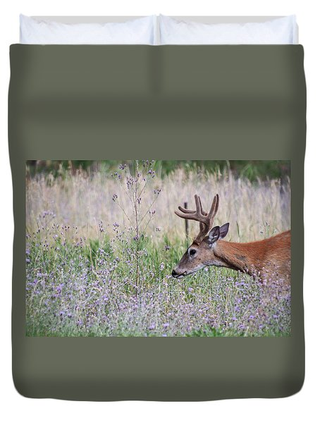 Duvet Cover featuring the photograph Red Bucks 4 by Antonio Romero