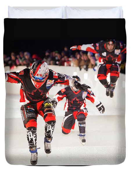 Red Bull Crashed Ice St Paul 3 Duvet Cover
