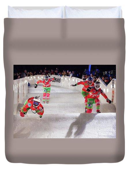 Red Bull Crashed Ice St Paul Duvet Cover