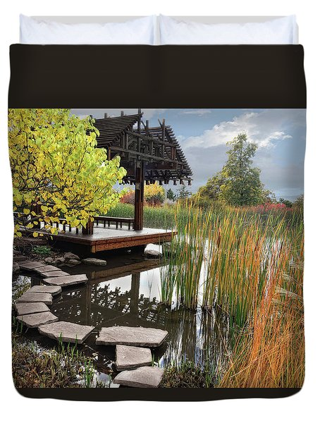 Red Butte Gardens Duvet Cover by Utah Images