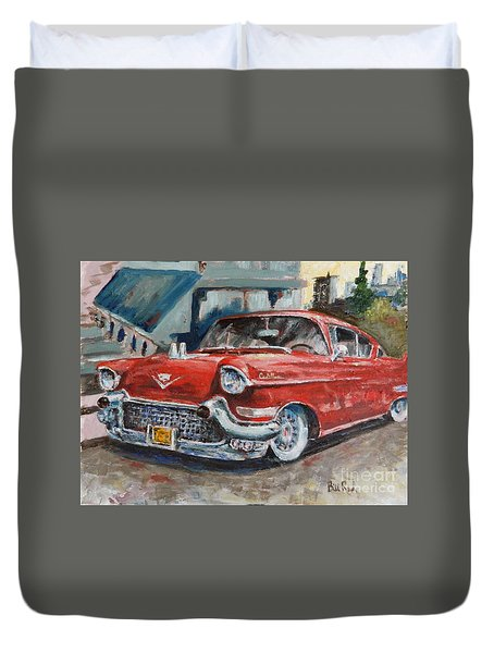Red Caddy Duvet Cover by William Reed