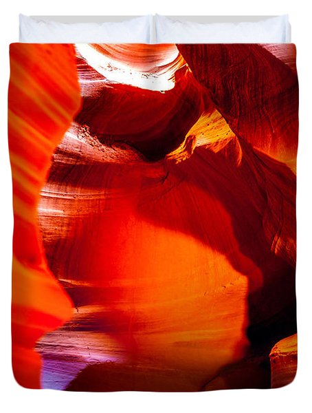 Red Canyon Walls Duvet Cover
