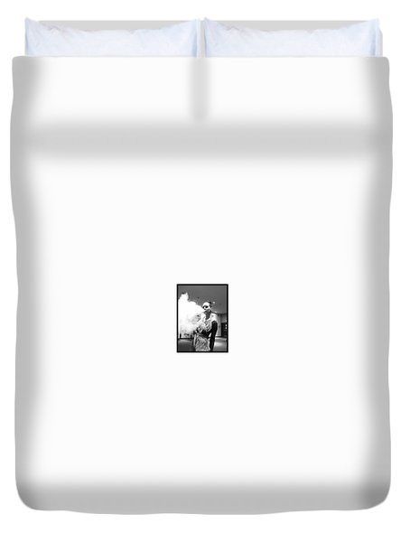 Duvet Cover featuring the photograph Red Carpet Vapeing  by Lisa Piper