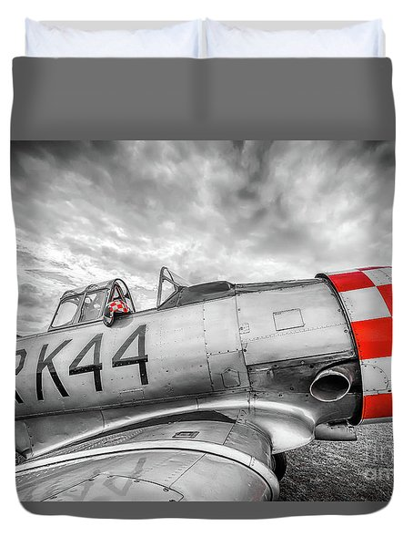 Red Checkers Duvet Cover