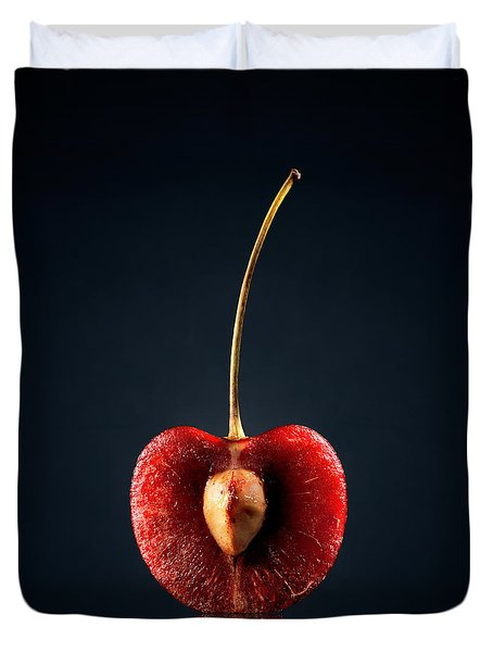 Red Cherry Still Life Duvet Cover by Johan Swanepoel