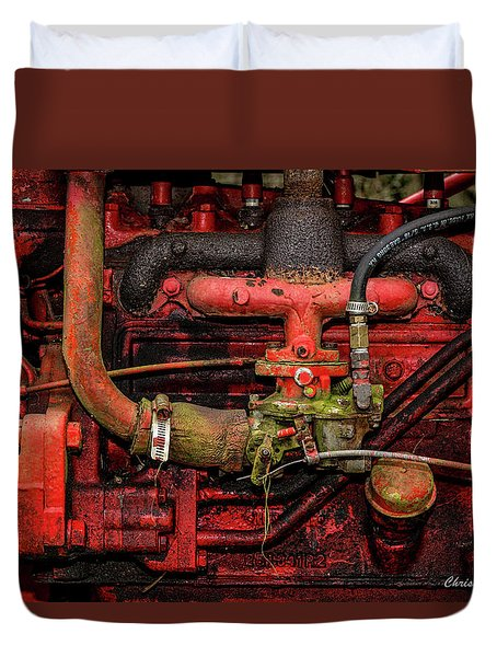 Duvet Cover featuring the photograph Red by Christopher Holmes