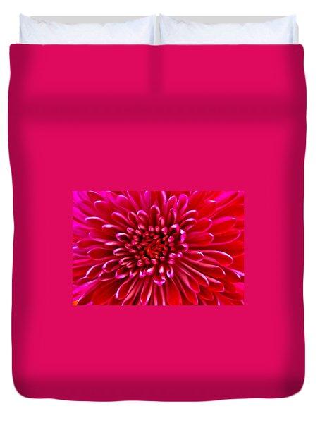 Red Chrysanthemum Duvet Cover