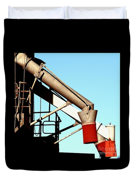 Duvet Cover featuring the photograph Red Chutes by Stephen Mitchell