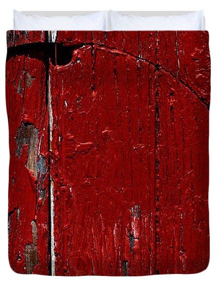 Red Circle Duvet Cover