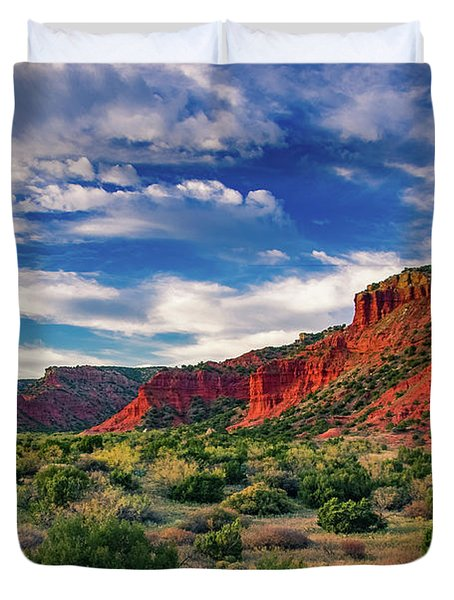 Red Cliffs Of Caprock Canyon 2 Duvet Cover