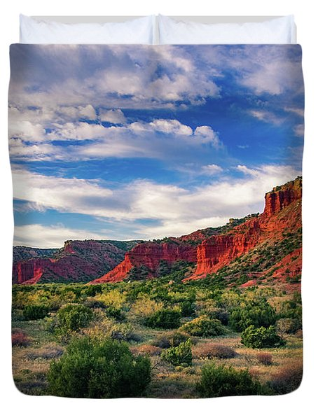 Red Cliffs Of Caprock Canyon Duvet Cover