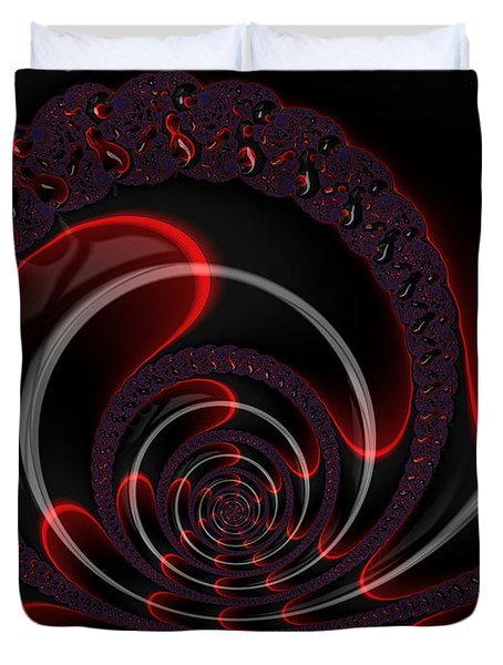 Red Cobra Duvet Cover