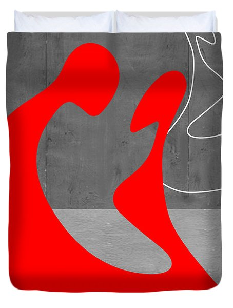Red Couple Duvet Cover