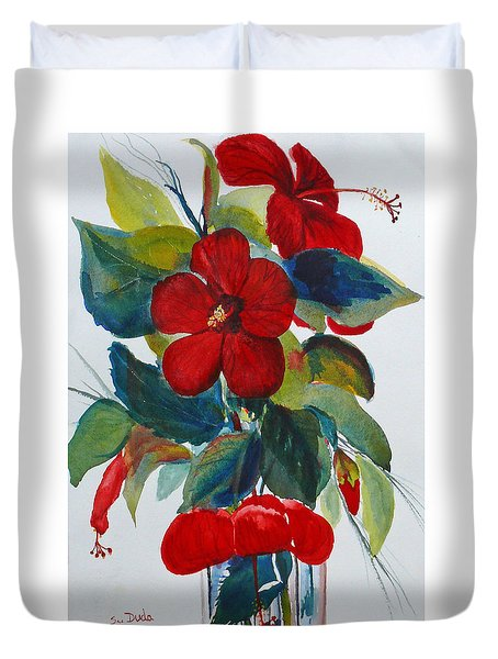 Red Dance Duvet Cover