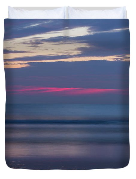Red Dawn Breaking Duvet Cover