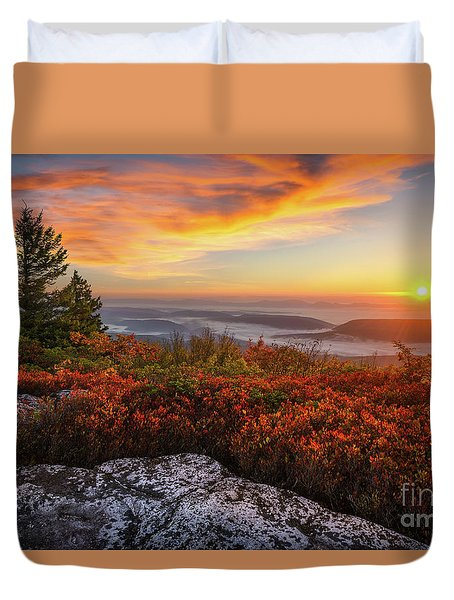 Red Dawn Two Duvet Cover