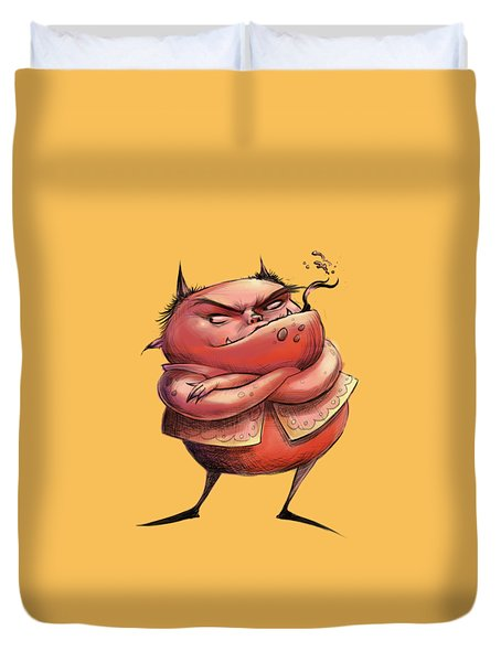 Red Devil Duvet Cover