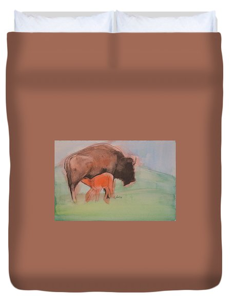 Red Dog Duvet Cover