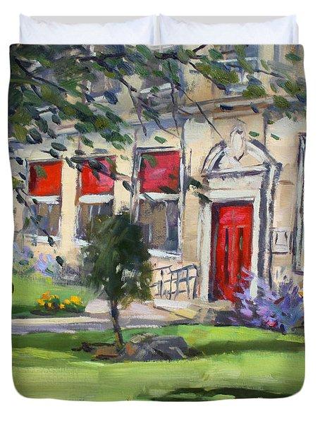 Red Door At The Nacc Duvet Cover