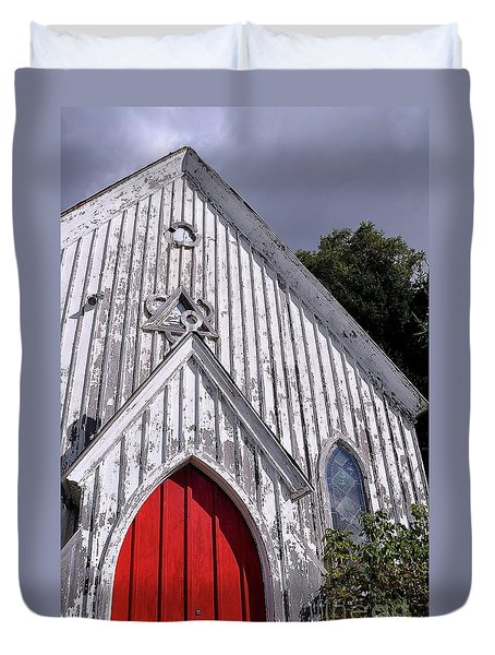 Red Door Duvet Cover by Gina Savage