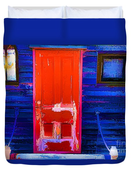 Red Door Harbor Duvet Cover
