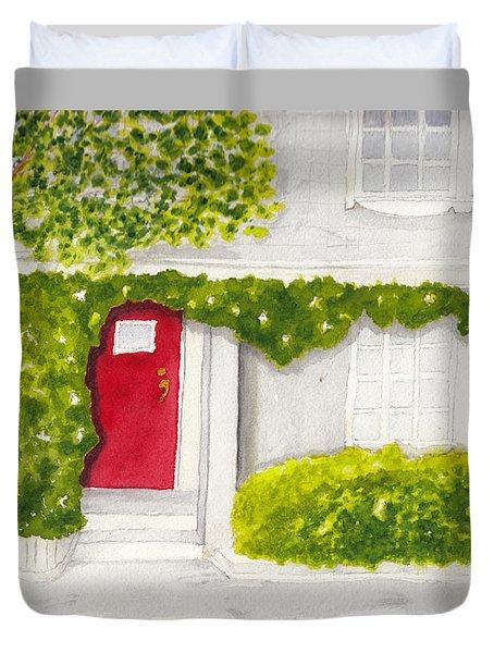 Red Door Morning Light 2 Duvet Cover