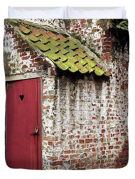 Red Door Duvet Cover