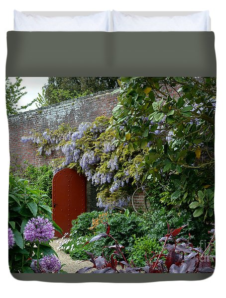 Duvet Cover featuring the photograph Red Door by Tanya Searcy