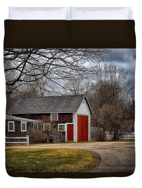 Red Doors Duvet Cover by Tricia Marchlik