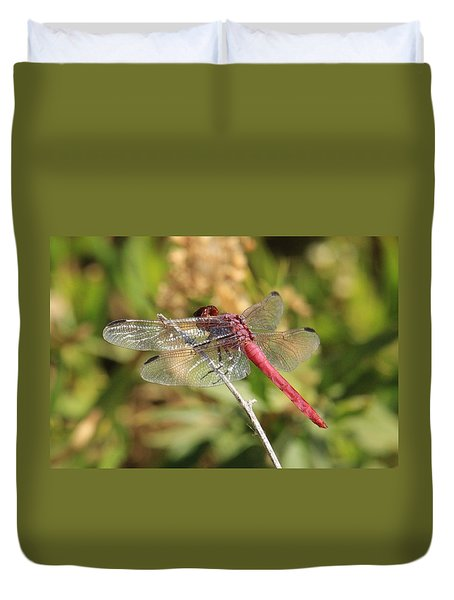 Red Dragonfly Duvet Cover