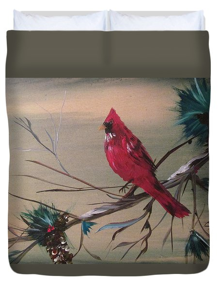 Red Drifter Duvet Cover
