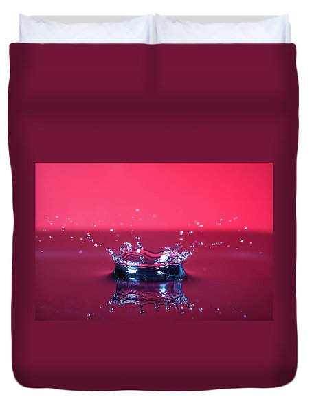 Red Drop Duvet Cover