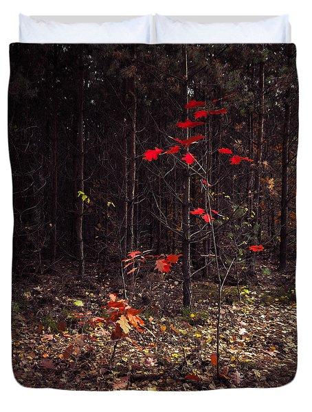 Red Drops Duvet Cover