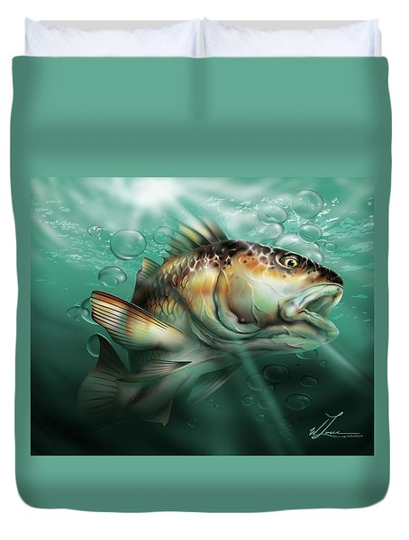 Red Drum Duvet Cover